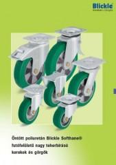 Öntött poliuretán Blickle Softhane futófelületű nagyteherbírású kerekek - 1000 Aprócikk Barkácsbolt