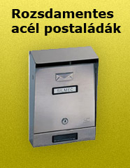 Rozsdamentes acél postaládák - 1000 Aprócikk Barkácsbolt