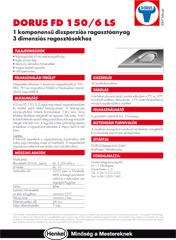 DORUS FD 150/6 LS - 1 komponensű diszperziós ragasztóanyag - 1000 Aprócikk Barkácsbolt