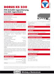 DORUS KS 230 ragasztóanyag íves élek ragasztására - 1000 Aprócikk Barkácsbolt